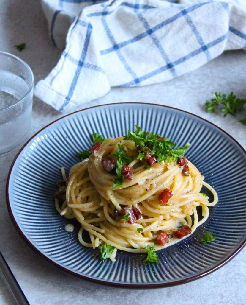 spaghetti carbonara uden fløde